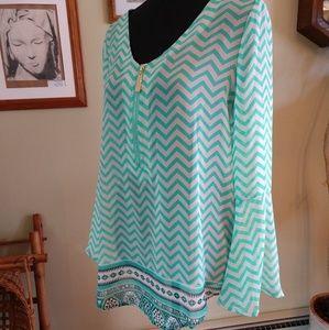 Sheer blouse by Tacera